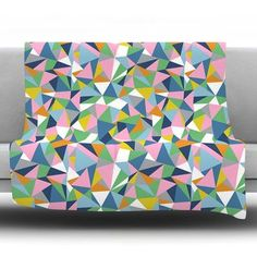 """KESS InHouse Abstraction by Project M Fleece Throw Blanket Size: 80'' H x 60'' W x 1"""" D, Color: Pink"""