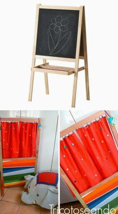 mommo design: IKEA HACKS FOR BOYS - Mala easel as puppet theatre