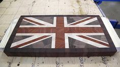 "Making ""Union Jack"" end grain cutting board"