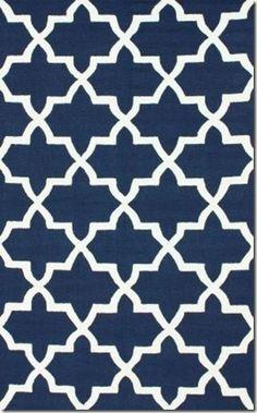 nuLOOM Handmade Alexa Moroccan Trellis Wool Rug - Overstock™ Shopping - Great Deals on Nuloom - Rugs Contemporary Rugs, Modern Rugs, Trellis Rug, Trellis Pattern, Navy Rug, Rugs Usa, Room Rugs, Wool Area Rugs, Rugs Online