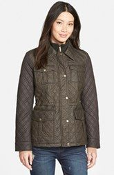 MICHAEL Michael Kors Quilted Field Jacket with Bib Inset