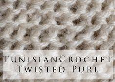Tunisian Crochet Twisted Purl Stitch