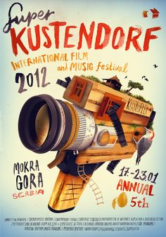 Kustendorf International Film and Music Festival poster poster handlettering typography illustration Cover Design, Graphisches Design, Print Design, Graphic Design Posters, Graphic Design Illustration, Graphic Design Inspiration, Typography Served, Typography Design, Festival Posters