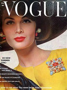 Isabella Albonico, photo by Bert Stern, Vogue US, May 1962 *