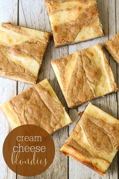 Delicious Cream Cheese Swirled Blondies!!