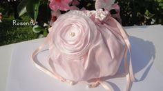 Brauttaschen - Brauttasche Pompadour Ivory Rosa Rose SEIDE - ein Designerstück von Rosenregi bei DaWanda
