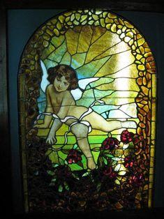 Angel in a church window #StainedGlassChurch