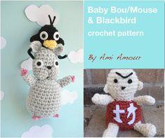 Spirited Away crochet pattern set Mouse Soot Sprite No Face Duck Spirit No Face, Futurama, Sprites, Miyazaki, Crochet Cross, Crochet Hats, Baby Patterns, Crochet Patterns, Baby Mouse