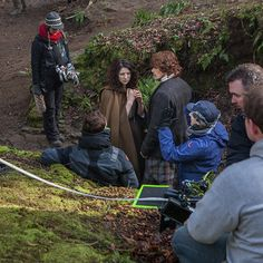 Here is a new behind the scenes picture of Caitriona Balfe and Sam Heughan playing Claire and Jamie Fraser on the set of Outlander. Less than two weeks from the #Outlander mid-season premiere. Here...