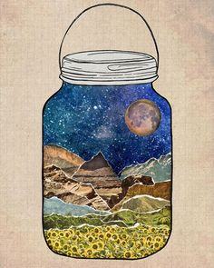 Desert moon in a jar