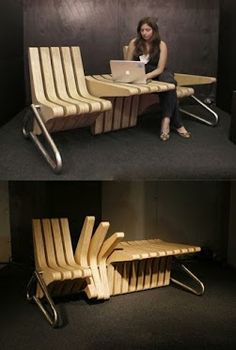 Very innovative chair/table, this is genius!