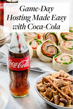 Game-Day Hosting Made Easy with Coca-Cola. Order your customized collegiate Coke bottles for game day. Soda Recipe, Healthy Snacks, Healthy Recipes, Game Day Food, Cookbook Recipes, Coke, Coca Cola, Make It Simple, Food And Drink
