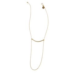 Stitch Fix Summer Accessories | Safford Bar and Chain Necklace