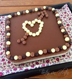 Tartas sin Gluten .....365 dias sin gluten: Tarta a los 3 chocolate con cuajada Royal (Sin gluten) Chocolate Sin Gluten, Birthday Cake, Gluten Free, Desserts, Valentines, Glutenfree, Cakes, Sweets, Deserts