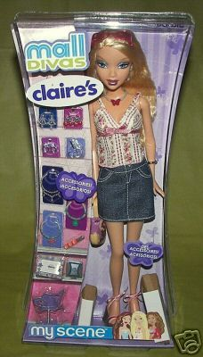 2006 Barbie - Mall Divas Claire's (My Scene) # ? Pictures Of Barbie Dolls, Denim Outfits, Priscilla Presley, Barbie I, Barbie Friends, Doll Stuff, Legos, Minions, Lego