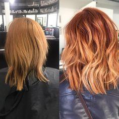 Light Auburn Hair, Hair Color Auburn, Hair Color Dark, Red Hair With Blonde Highlights, Red Blonde Hair, Red Hair With Lowlights, Copper Blonde Balayage, Brown Balayage, Brown Hair