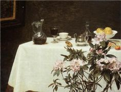 Still Life, Corner of a Table - Henri Fantin-Latour