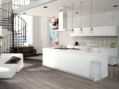 Terratinta laatta // keittiö // kitchen tiling