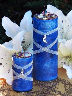White Magick Alchemy - Blue Moon Celestial Lunar Alchemy Pillar Candles . Full Moon Rites, Esbats, $11.95 (http://www.whitemagickalchemy.com/blue-moon-celestial-lunar-alchemy-pillar-candles-full-moon-rites-esbats/)