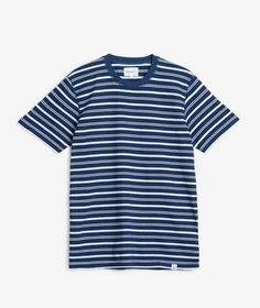 Norse Projects - Niels Indigo Stripe SS