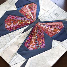 Kelebek quilts - butterfly quilt block