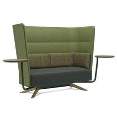 Cell 128 canapé à 4 branches avec dossier haut | Lounge sièges de travail | SitLand