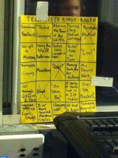 tech week bingo