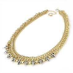♥ Celebrity Style Studded Chain Necklace £10