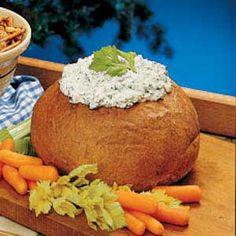 Spinach Dip in a Bread Bowl Recipe