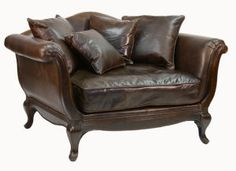 Canoodle Leather Lounging Chair, wish we could afford two for our library