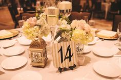 Simple yet elegant tablescapes.