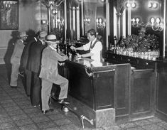 Patrons At A Speakeasy In Sf by Underwood Archives