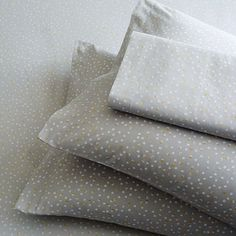 Organic Multi Dot Sheet Set, Twin, Frost Gray These sheets, with my floral duvet would be perfection