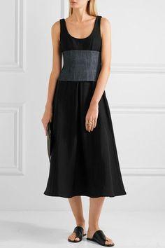 Tibi - Stretch-knit Midi Dress - Black - US12