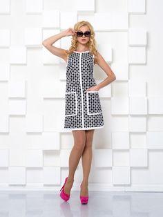 Платье черно-белое в узор - I.Klairie, акция действует до 3 апреля 2015 года | LeBoutique - Коллекция брендовых вещей от I.Klairie