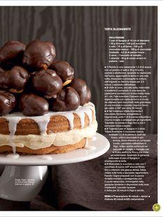 Torta black and white Profitteroles