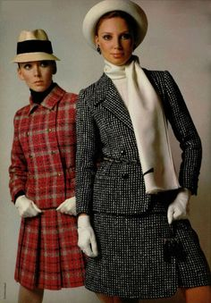 1968 suits Christian Dior and Yves Saint Laurent