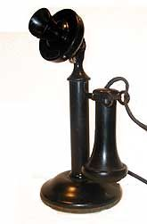 This phone was manufactured by Western Electric in the early 20's. Description from islandregister.com. I searched for this on bing.com/images