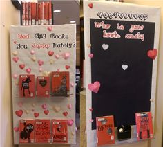 Teen February display with interactive activity @ George Latimer Central Library