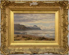 """BENJAMIN WILLIAMS LEADER (1831-1923)  Conway Bay - Lower Water  oil on board  signed lower left B. W. Leader 1894  titled and signed on reverse  Charles Roberson label on reverse  8"""" x 12"""""""