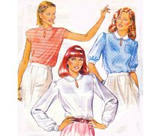 80s Romantic Blouse pattern Style 3255 by allthepreciousthings