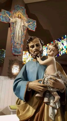 ~St. Joseph Catholic Art, Catholic Saints, Religious Art, St Joseph, Catholic Pictures, Girl God, Religion Catolica, Jesus Art, Mary And Jesus