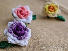Crochet Rose  Shrub Rose  Handmade Crochet by HappyPattyCrochet