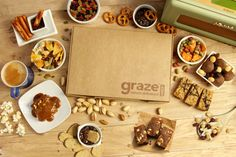 Get your first and fifth box with this code ! I promise it works ;) try these delicious snacks. Gives you options to pick and choose which ones you'd eat ranging from vanilla sunflower seeds to yummy granola bars Bournemouth, Healthy Snack Options, Healthy Snacks, Nottingham, Glasgow, Liverpool, Manchester, Graze Box, Yummy Food