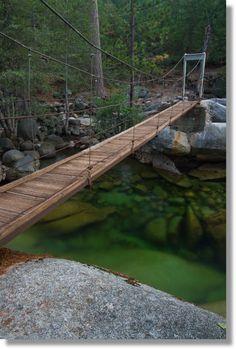Yosemite Hikes: The Wawona Swinging Bridge Camping In Nj, Yosemite Camping, Yosemite Sequoia, Yosemite Valley, Sequoia National Park, Us National Parks, Hiking Usa, Hiking Trails, California Travel
