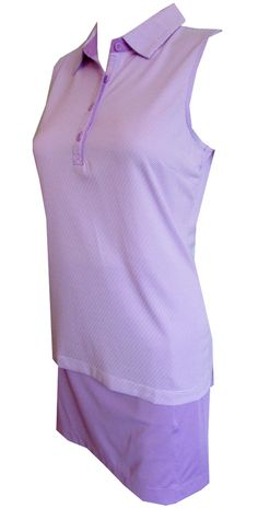 If you're in the market for some new outfits, consider our women's apparel! Shop this comfortable and stylish Essentials (Lilac Mist Multi) EP New York Ladies & Plus Size Golf Outfits (Shirt & Skort) from Lori's Golf Shoppe.