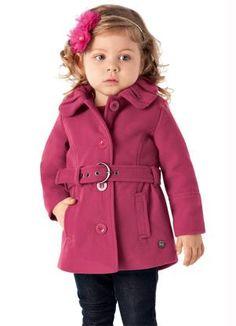 Casaco Infantil Brandili Mundi Vermelho - Brandili Portal Baby Coat, Kids Coats, Winter Kids, Kids Fashion, Womens Fashion, Kids Wear, Fall Outfits, Baby Kids, Girls Dresses