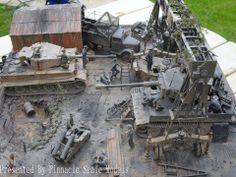 Pz.Kpfw.VI Tiger field repair shop Diorama