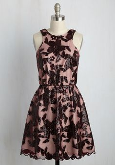 Windflower Waltz Sequin Dress in Burgundy. Leading your love to the garden - the sparkling sequins on your date night dress lighting the way - you stop aneath the gazebo. #red #modcloth