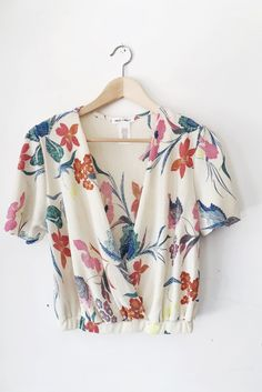 Ivory Hawaiian Crop Top from Prism Boutique